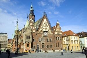 Sehenswürdigkeit und Treffpunkt in Breslau - Rathaus